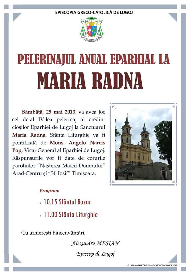 Pelerinaj maria Radna 2013